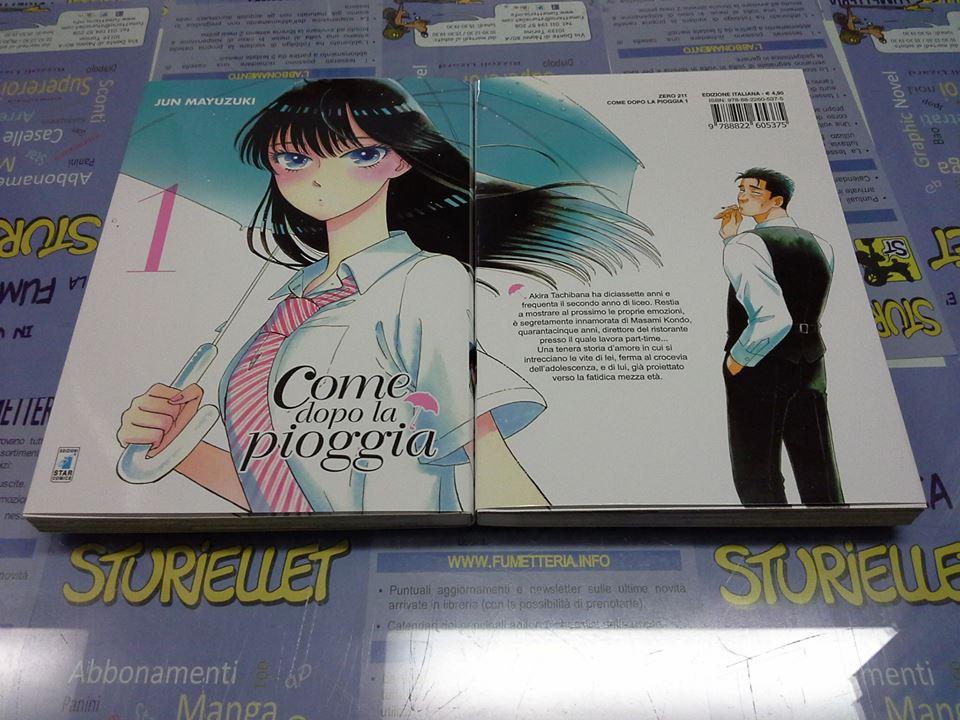 ITALIANO NUOVO #NSF3 Star Comics Manga Come Dopo La Pioggia N° 8